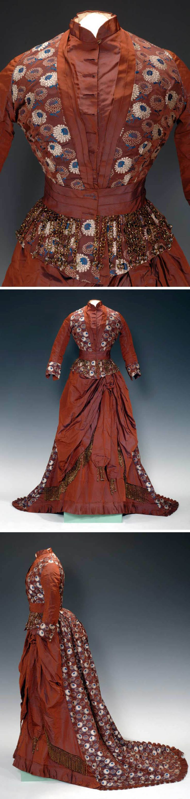 Dress, Martha J. de la Mater, USA, 1876