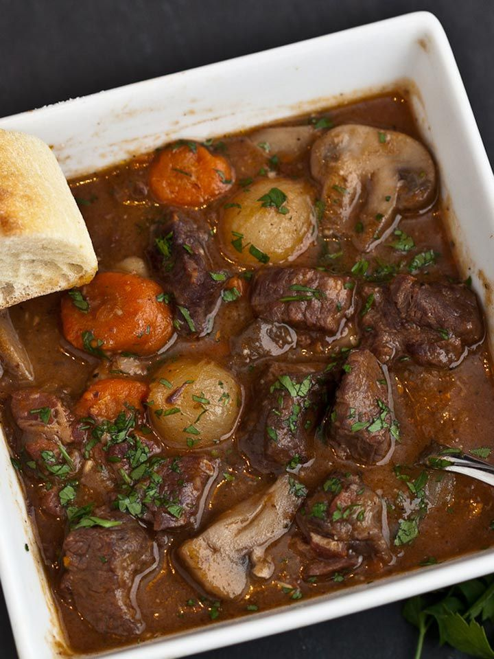 Boeuf Bourguignon - French Beef Stew #soup