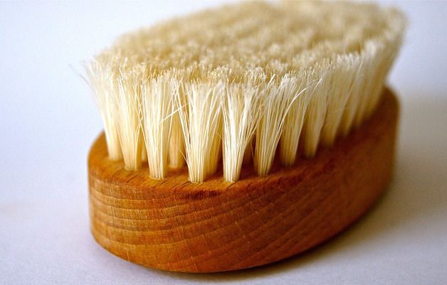 SPA DAY TIP  Dry-brush Your Skin At Home!   Exfoliating liberates sweat and oil glands, allowing the body to breathe!