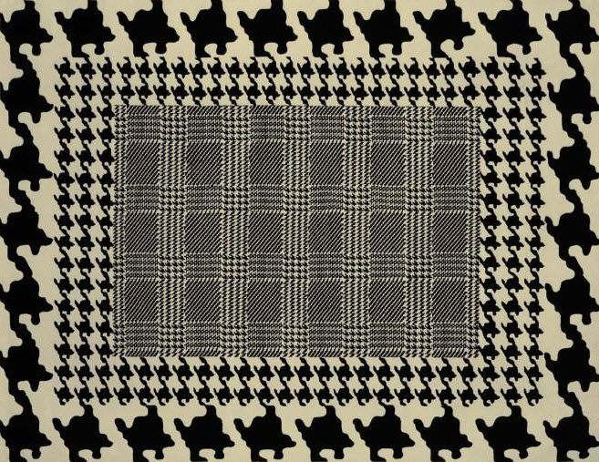 tapis contemporain à motifs en laine PIED DE POULE by Franscesco Lucchese NODUS RUG