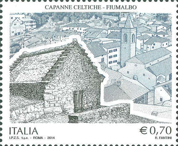 2014 - Patrimonio artistico e culturale italiano - Capanne celtiche, Fiumalbo