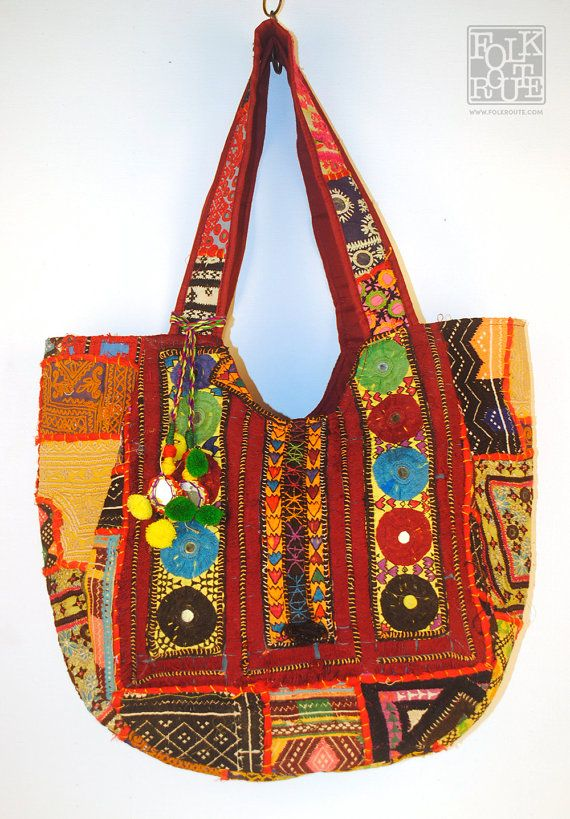 Banjara Kutch Round Yog Tote Bag by FolkRoute on Etsy
