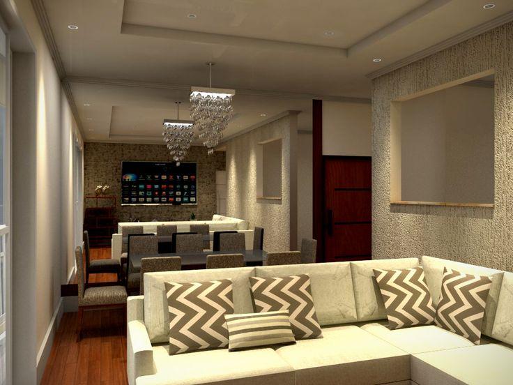 Após adquirir um novo apartamento, um casal nos procurou em busca de um projeto que houvesse integração dos ambientes de maneira harmônica e moderna...