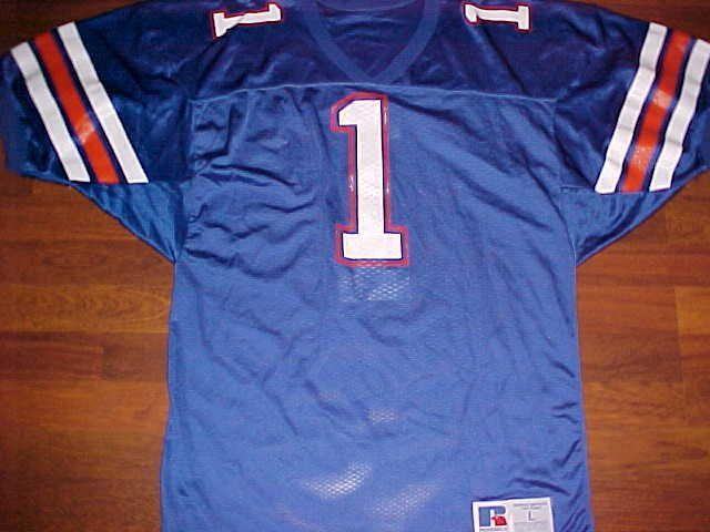 Russell Athletic NCAA SEC Florida Gators 1 Blue White Orange Football Jersey L…