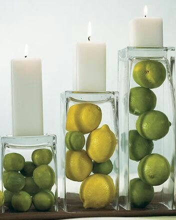 great color and love the candles! So simple!