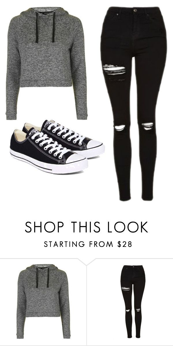 """""""Untitled #481"""" by cuteskyiscute on Polyvore featuring Topshop and Converse"""