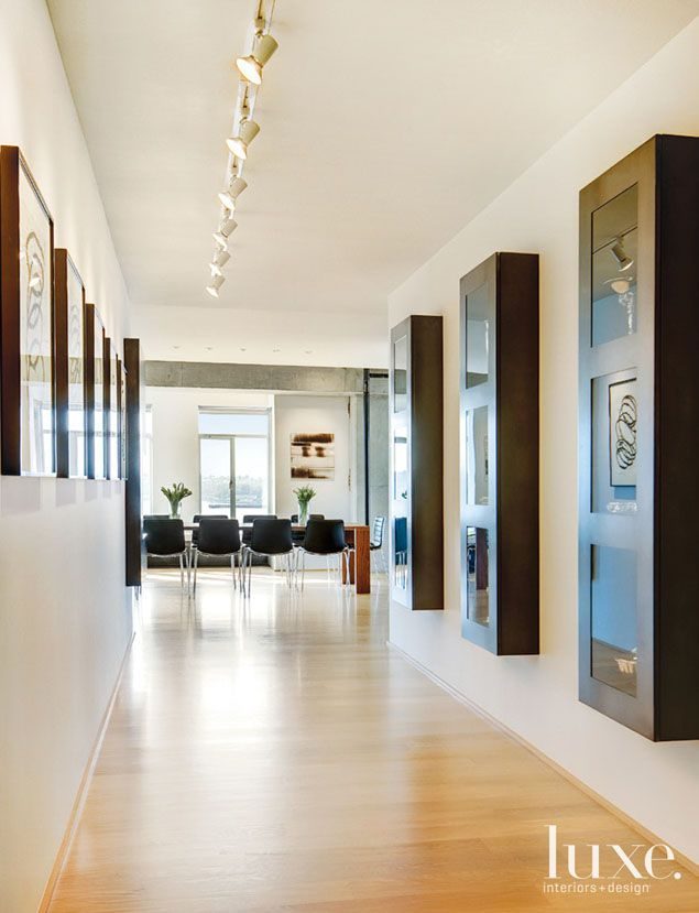Neutral Modern Hall To Dining Room