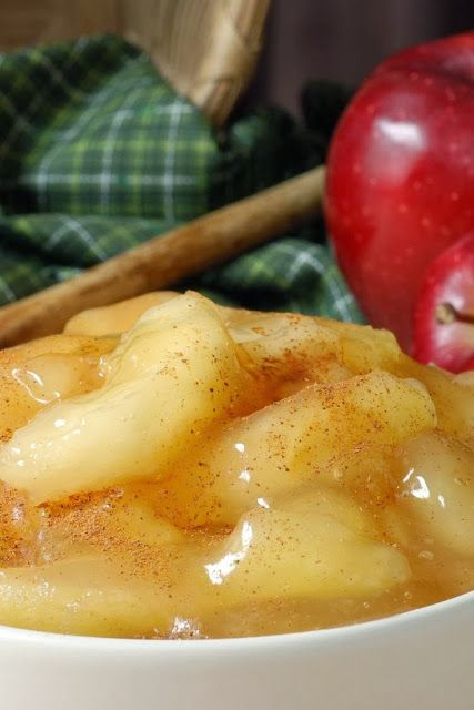 Sauteed Apples ~ This is great for any meal, but is great for breakfast. The syrup from the apples is great on homemade waffles. You may add raisins to the sauce if you wish..