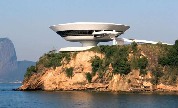 Niterói Contemporary Art Museum in Rio de Janeiro, Brazil (1996) / by Oscar Niemeyer