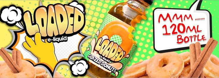 Glazed Donuts Ejuice  Founded in sunny Orange County California,Loaded E-Liquidis a premium e-juice company manufactured byRuthless Vapors. Loaded E-Liquid uses the highest quality ingredients, VG, PG and nicotine. Glazed Donuts is the first flavor: a spot-on donut treat. It's blended to perfection and will never tire your tongue.
