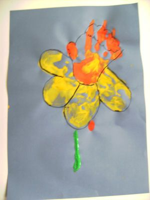 St David's Day hand painting.
