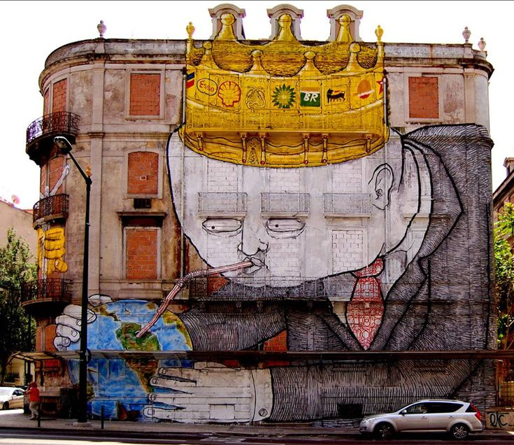 The Colossal and Notable Graffiti by Blu | Abduzeedo Design Inspiration & Tutori…
