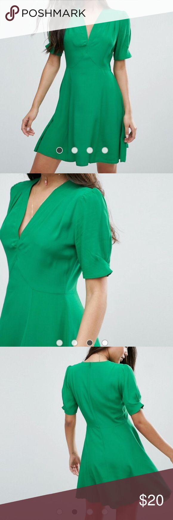 ASOS 40s green tea dress Never worn green tea dress! Bought the wrong size and never returned ASOS Dresses Mini