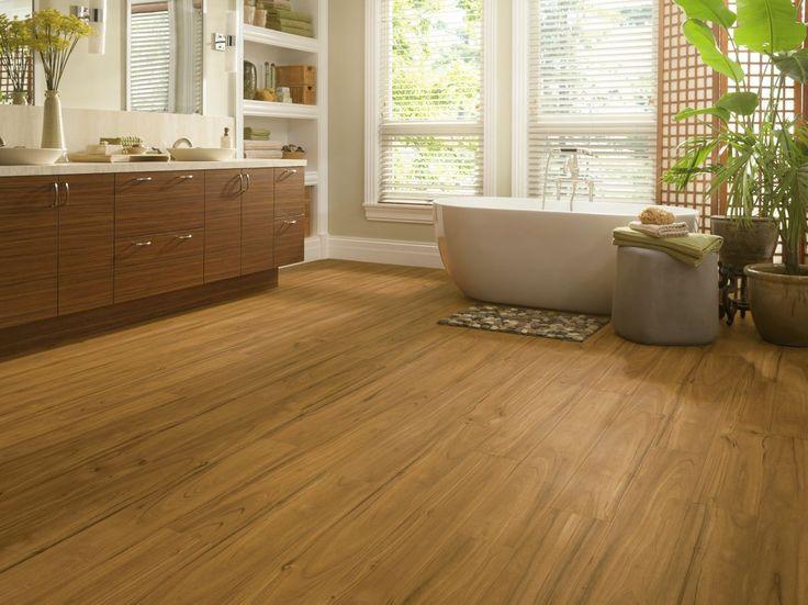 Armstrong Luxury Vinyl Plank Flooring | LVP | Blonde Wood Look | Bathroom  Ideas