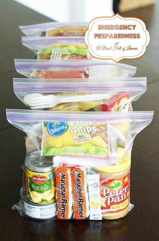 72 hour kit for emergency preparedness. Good ideas... by Helen Mata