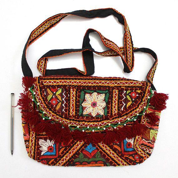 Handgemaakte etnische ontwerper Triabal Banjara Patchwork geborduurd hippie modieuze stijlvol Trendy Hippie Gypsy Boho Boheemse Clutch tas F016
