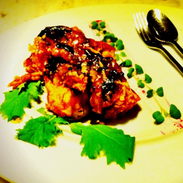 Soft-shell crab with tamarind chutney @ Gaggan