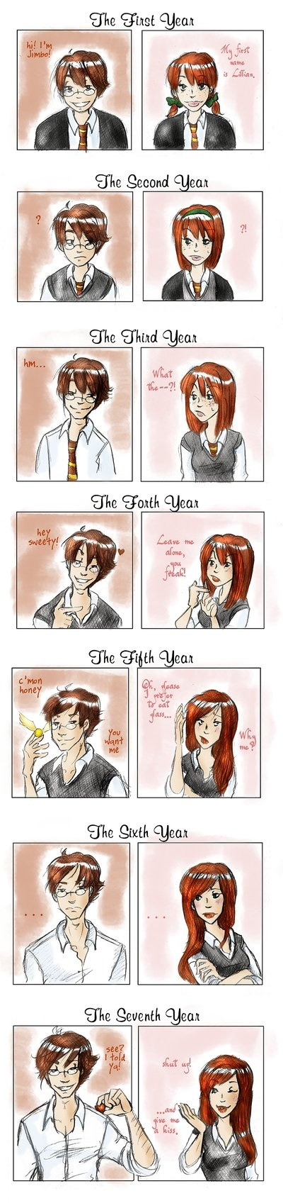 their relationship james potter & lily evans