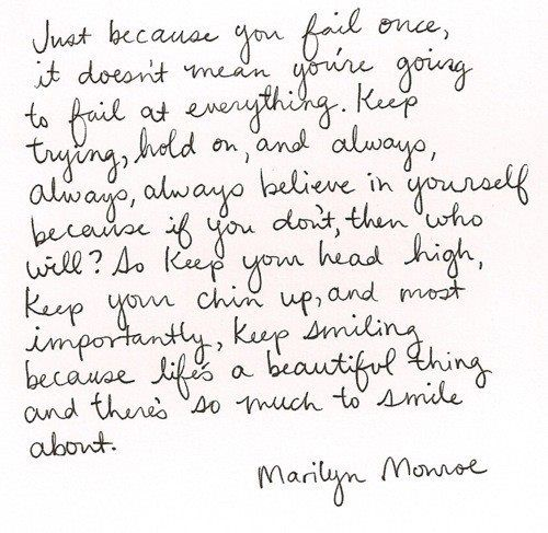 Marilyn Monroe...One wise woman