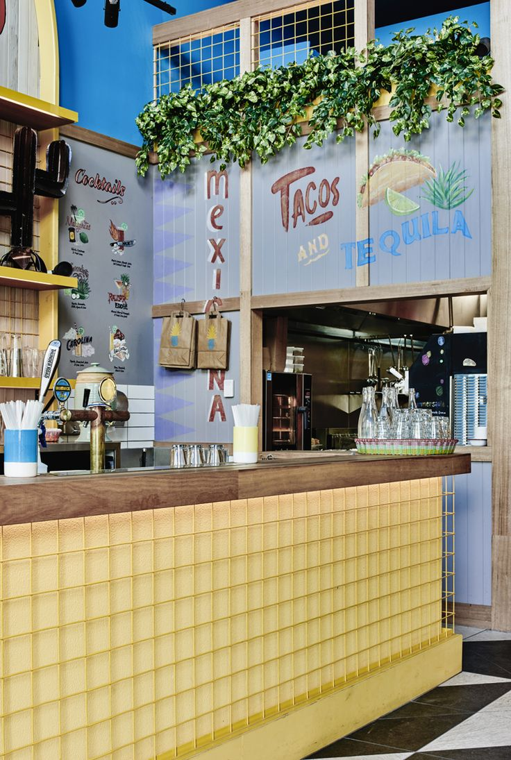 Colourful Mexican culture characterises the new Paco's Tacos restaurant designed by Melbourne-based firm Technē Architecture and Interior Design.