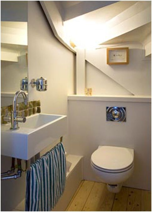 Lighting Basement Washroom Stairs: Bathroom Ideas For Small Bathrooms Under The Stairs
