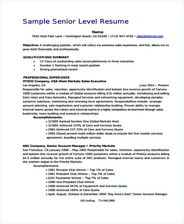 Senior Manager , Account Manager Resume Sample , If you are seeking for the Account Manager resume sample, we suggest you read this article below to know the examples, and another thing should know.