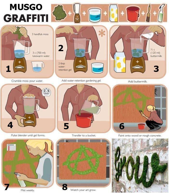 moss graffiti: Wall Art, Idea, Moss Art, Street Art Utopia, Streetartutopia, Brick, Moss Graffiti, House, Moss Wall