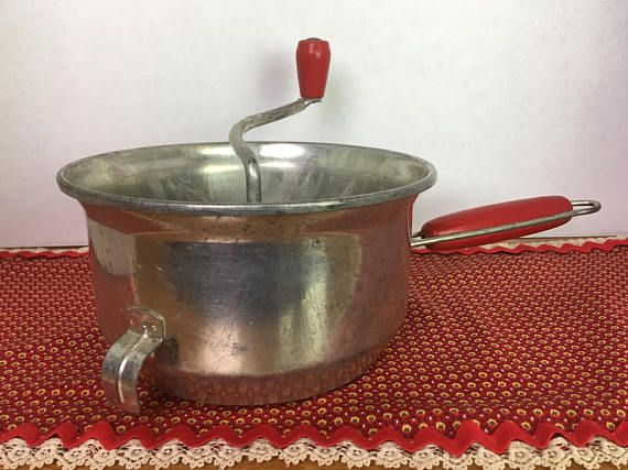 Vintage Red Handle Foley Food Mill 1950s