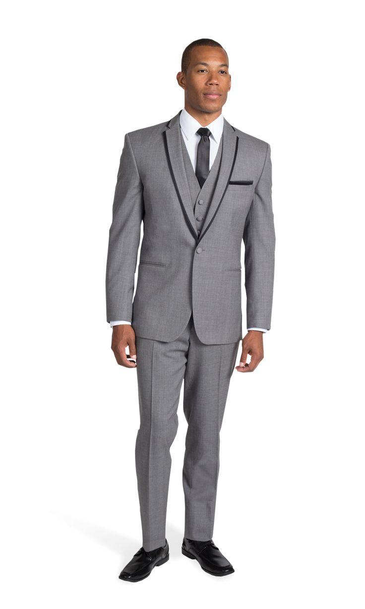 Gray Framed Notch Lapel Tuxedo