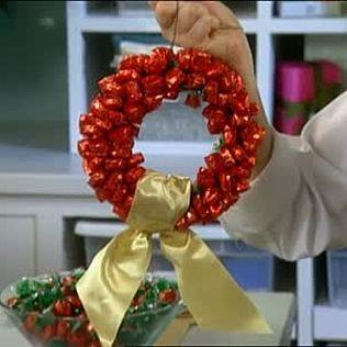 Candy Wreath & Video   Martha Stewart