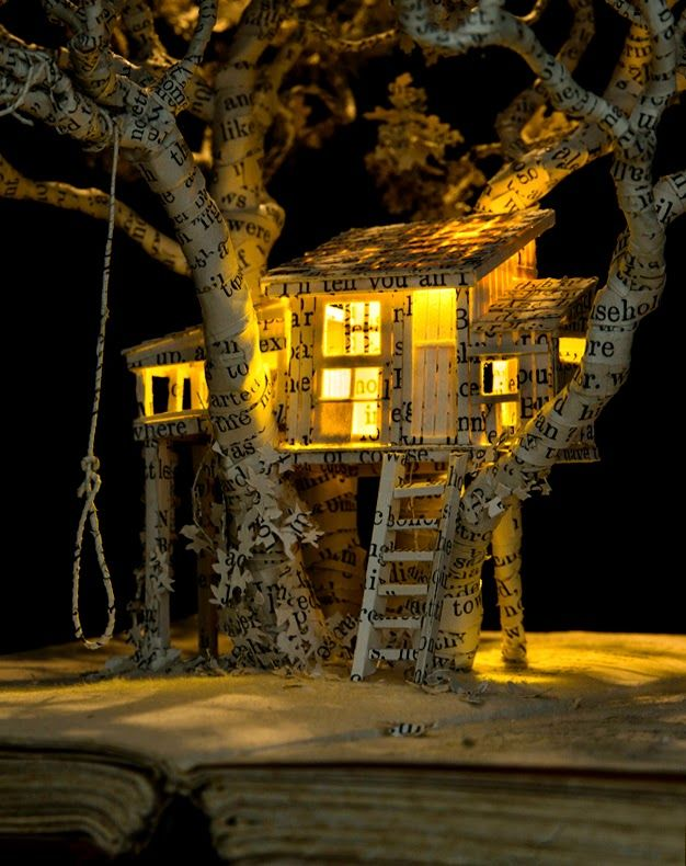 Su Blackwell Studio Blog: 'In Fairyland' Exhibition features Su's captivating Treehouse.