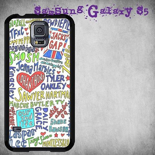 Youtubers Collage Print On Hard Plastic For Samsung Galaxy S5 , Black Case  Description:  Create special case by using your favorite photos or thoughts to inspire and motivate you everyday. Also it's