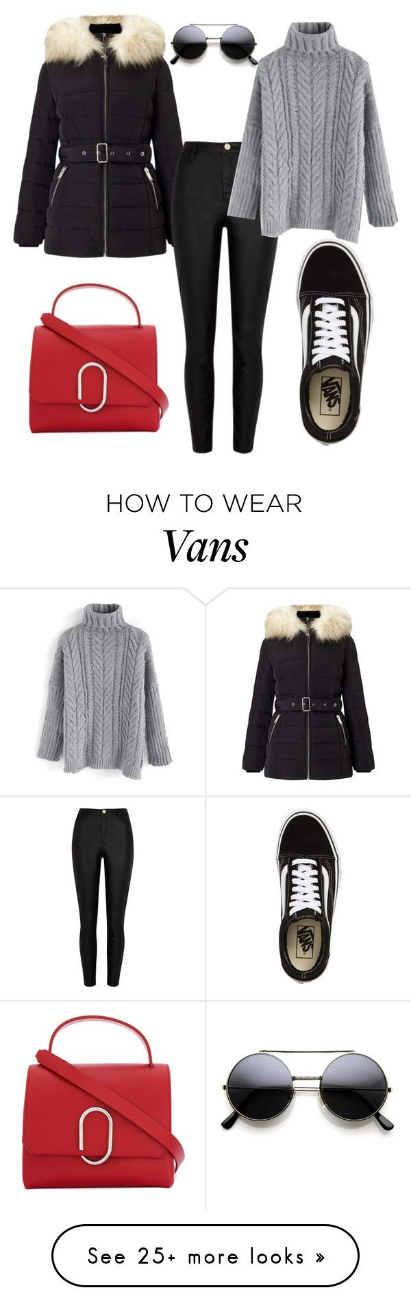 """Untitled #252"" by darnelll on Polyvore featuring Vans, 3.1 Phillip Lim, Miss Selfridge, River Island and Chicwish"