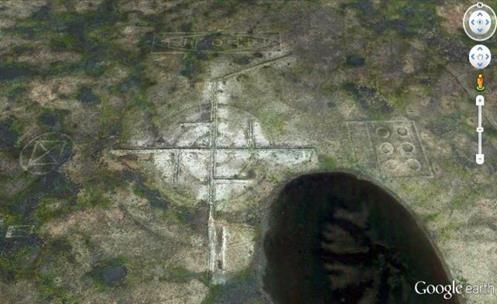 Mistério: Gigante Suástica Vista no Deserto Perto de Roswell, no Novo México?
