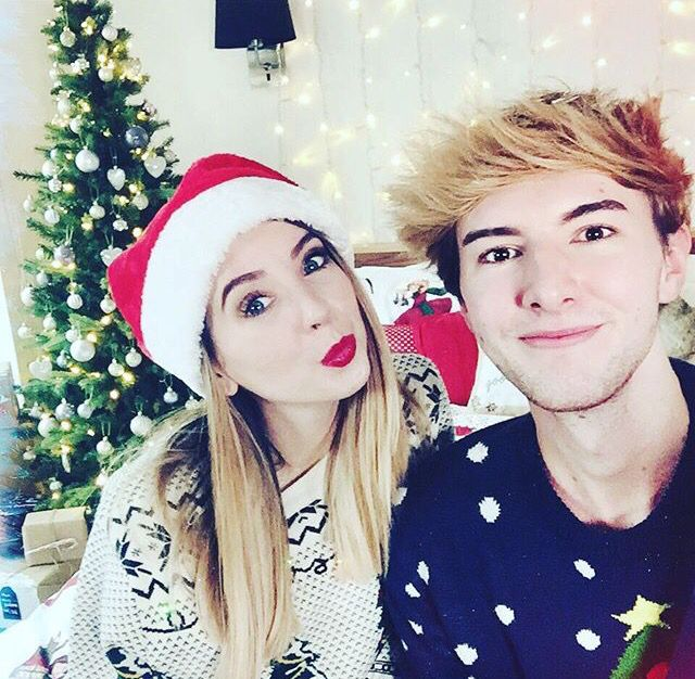 Mark Ferris and Zoella