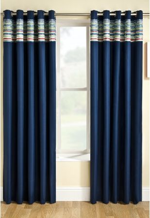 Santiago Blue Lined Ring Top Curtains The Santiago Blue Lined Ring Top Curtains are thermal foam backed curtains, which have various benefits. One of these benefits is that the majority of light will be blocked out, leading to a better qu http://www.MightGet.com/january-2017-12/santiago-blue-lined-ring-top-curtains.asp