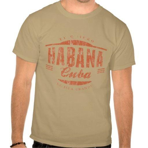 Habana Te Quiero Vintage Label Tshirts