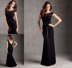 2014 Novo preto longo Sexy Laço formal Sereia PROM vestido de noite Capina Vestido in Roupas, calçados e acessórios, Roupas femininas, Vestidos | eBay