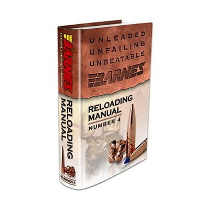 Manuals and Instruction Material 111293: Barnes Bullets 30745 Reloading Manual, 4Th Edition BUY IT NOW ONLY: $37.71