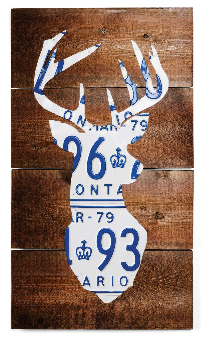 "Deer head licence plate 12"" x 22"", Route 401, Anthony Kentris from Toronto, ON, Etsy Section Booth P44D, $129"