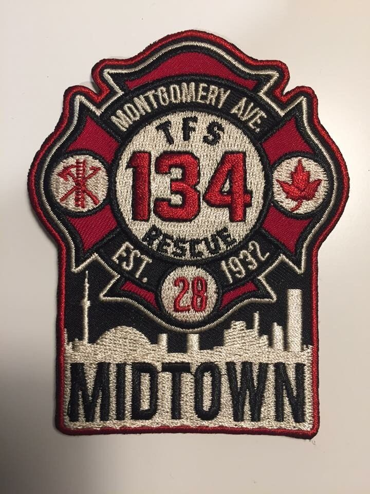 """Toronto Fire Station Rescue 134 """"Midtown"""" Patch."""
