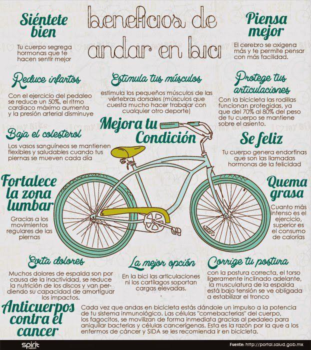 Beneficios de andar en #bici