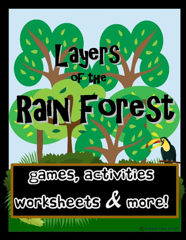 This Bundle is LOADED with games,activities, worksheets and more.  Included: Layers of the Rainforest Worksheet (2 pages) Raining Rainforest (plus answer key) Sweaty Forest Handout and Experiment (2 pages) Find it in the Forest Activity (3 pages) Roll a Rainforest Game and Instructions (5 pages, answer key) Build a Forest  Take Action  Animal Memory Match (3 pages) It's Your Turn worksheet (1 page) Major Discovery creative writing (1 page)