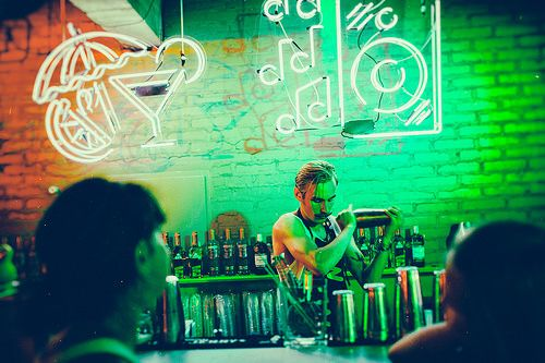 Drink bar at Flow Festival 2014. Photo by Jussi Hellsten.