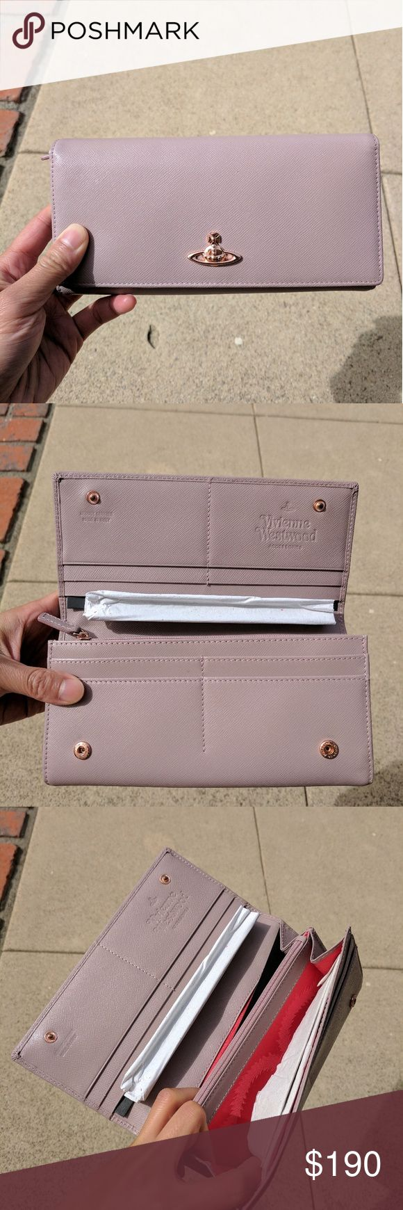 LIKE NEW Vivienne Westwood pink leather wallet Like new condition. Only used once! Vivienne Westwood Bags Wallets