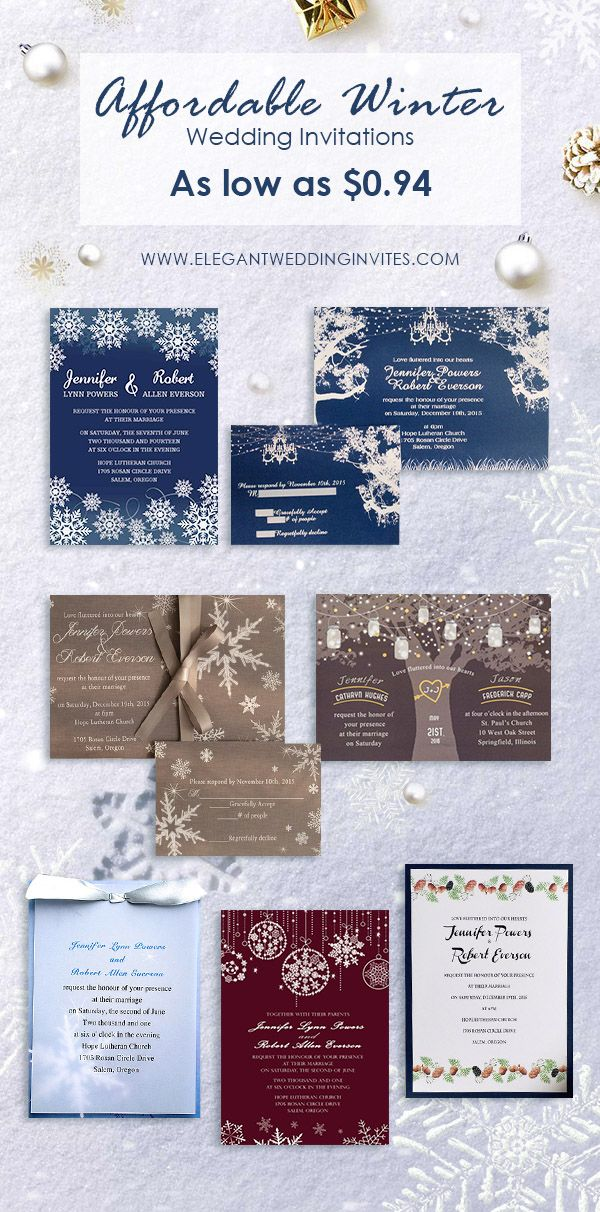 Winter Inspired Wedding Invitations At Elegant Wedding Invites