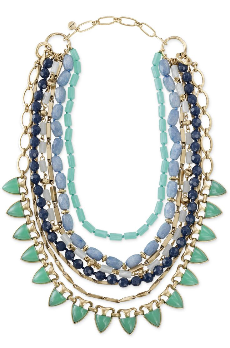 Love these colors and that this necklace can be worn 5 ways. So versatile! www.stelladot.com/nena
