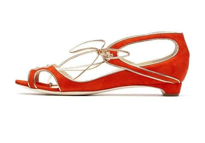 Collezione scarpe Rupert Sanderson primavera estate 2013 - Sandali arancioni