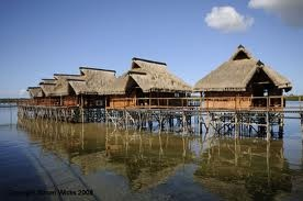 Flamingo Bay houses on stilts Mozambique.