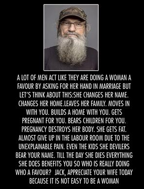 This made me cry, it's true. What women do for love.